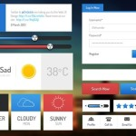 Flat Web & App UI Kit PSD
