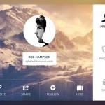 Flat User Profile Box PSD