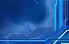 Abstract Blue HI-Tech Background Vector 02