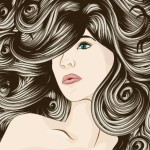 Creative Woman Hair Design Vector Illustration 01