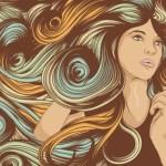 Creative Woman Hair Design Vector Illustration 02