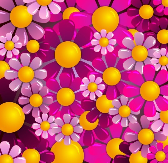 Colorful Flowers Background Tumblr Colored Flowers Background
