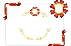 Vector Holiday Decorative Borders With Ribbons 01
