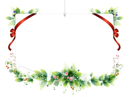 Free Vector Holiday Decorative Borders With Ribbons 02 - TitanUI