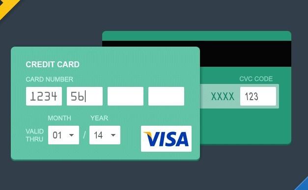 free flat style credit card psd titanui