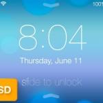 Flat iOS 7 Lock Screen PSD