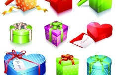 Set Of Vector Gift Box Icons