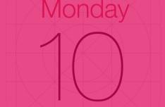 iOS 7 Calendar Icon PSD Template