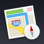 Flat Mac OS X Map Icon PSD