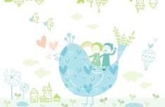 Fresh and Lovely Vector Illustration For Kids