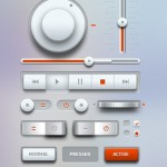 Light Music UI Design Kit PSD
