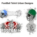 Vector Football T-Shirt Urban Designs