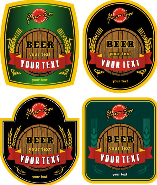 free vector vintage beer labels titanui. Black Bedroom Furniture Sets. Home Design Ideas