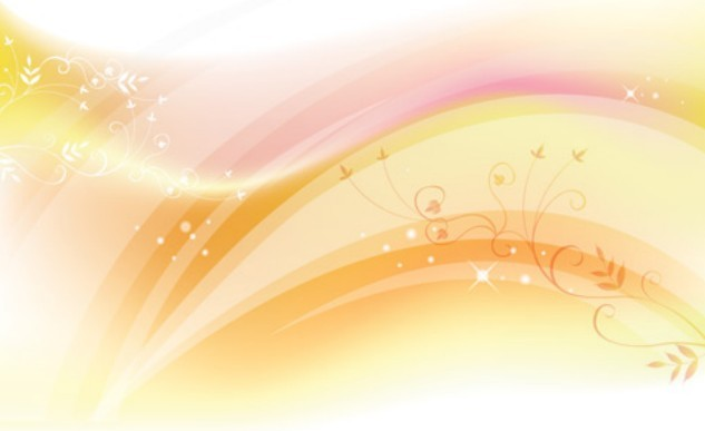 Free Bright Floral And Abstract Wave Background Vector 01