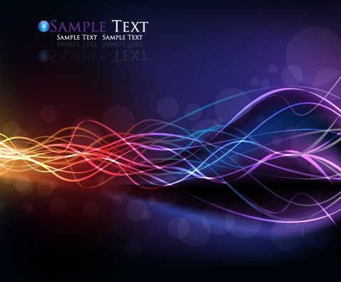 Gorgeous Abstract Colorful Curves Background Vector 02 - TitanUI