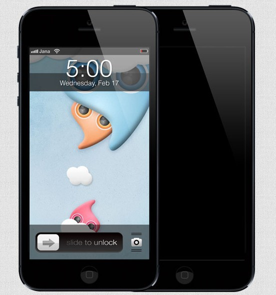 Free high quality black iphone 5 template psd titanui for Iphone 5 sticker template
