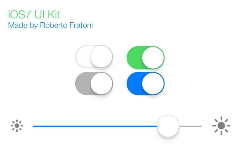 Free Minimal iOS 7 UI Kit PSD - TitanUI