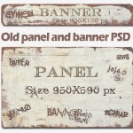 Old Banner and Panel Design PSD