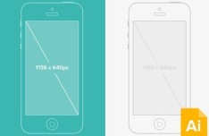 Vector iPhone 5 Wireframe Mockup
