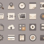 Brownie Theme Flat Icon Set PSD