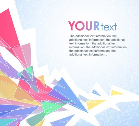 Free Colorful Abstract Triangles Background Vector TitanUI
