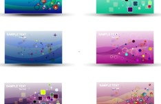 Set Of Vector Card Template with Bright Star Backgrounds