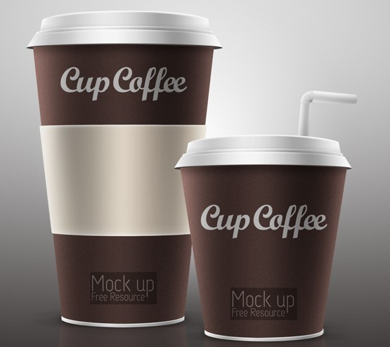 Free Elegant Coffee Cup Mockup PSD - TitanUI