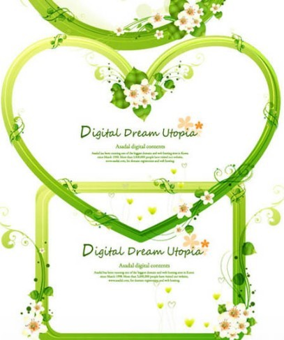 free green floral frame - photo #22