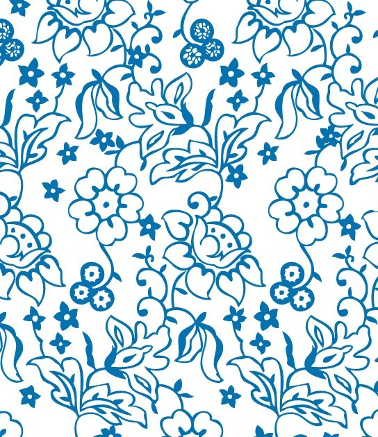 Simple Blue Flower Pat...