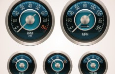 Vector Glossy Gauges