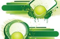 Vintage Grunge Splash Tennis Background Vector