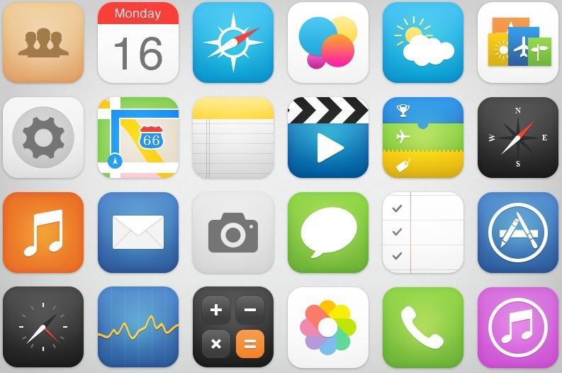 Free 24 New Ios 7 Style App Icons Psd Titanui