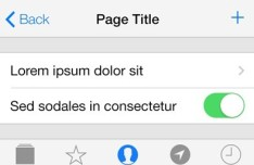 Minimal iOS 7 Interface PSD