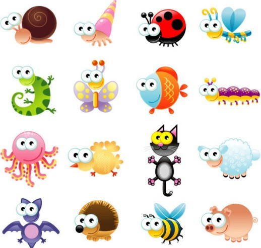 free set of vector cute cartoon animals titanui