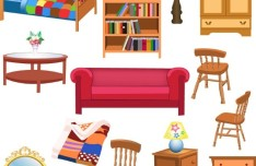 Set Of Vector Furniture Design Elements 02