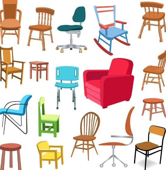 Free set of vector furniture design elements 03 titanui for Chair design elements