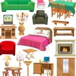 Set Of Vector Furniture Design Elements 04