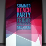Vector Summer Beach Party Flyer Template 01