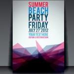 Vector Summer Beach Party Flyer Template 02