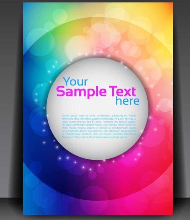 Free Fantastic Magazine Flyer Template with Colorful Abstract ...