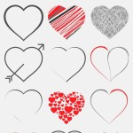 Set Of Vector Heart Designs (EPS+AI)