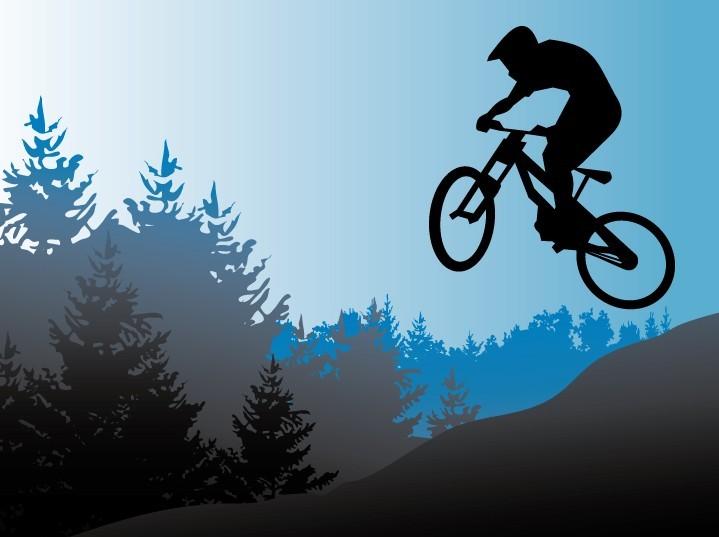 Free Vector Mountain Bike Illustration Titanui