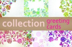 Vector Colorful Flower Patterns For Greeting Cards 01