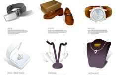 Fashion Accessory Icons Vector