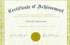 Vintage Certificate Of Achievement Design Vector 01