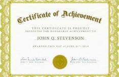 Vintage Certificate Of Achievement Design Vector 03