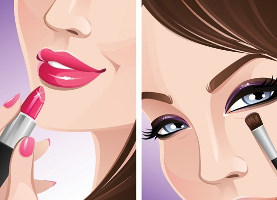 Girl Fashion Fonts With Lipstick