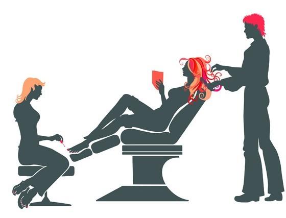 Free Vector Beauty Hair Salon Illustration 02 Titanui