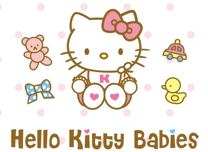 free vector hello kitty babies design titanui. Black Bedroom Furniture Sets. Home Design Ideas