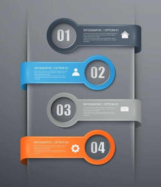 Free fashion infographic number options design elements for Blueprint number